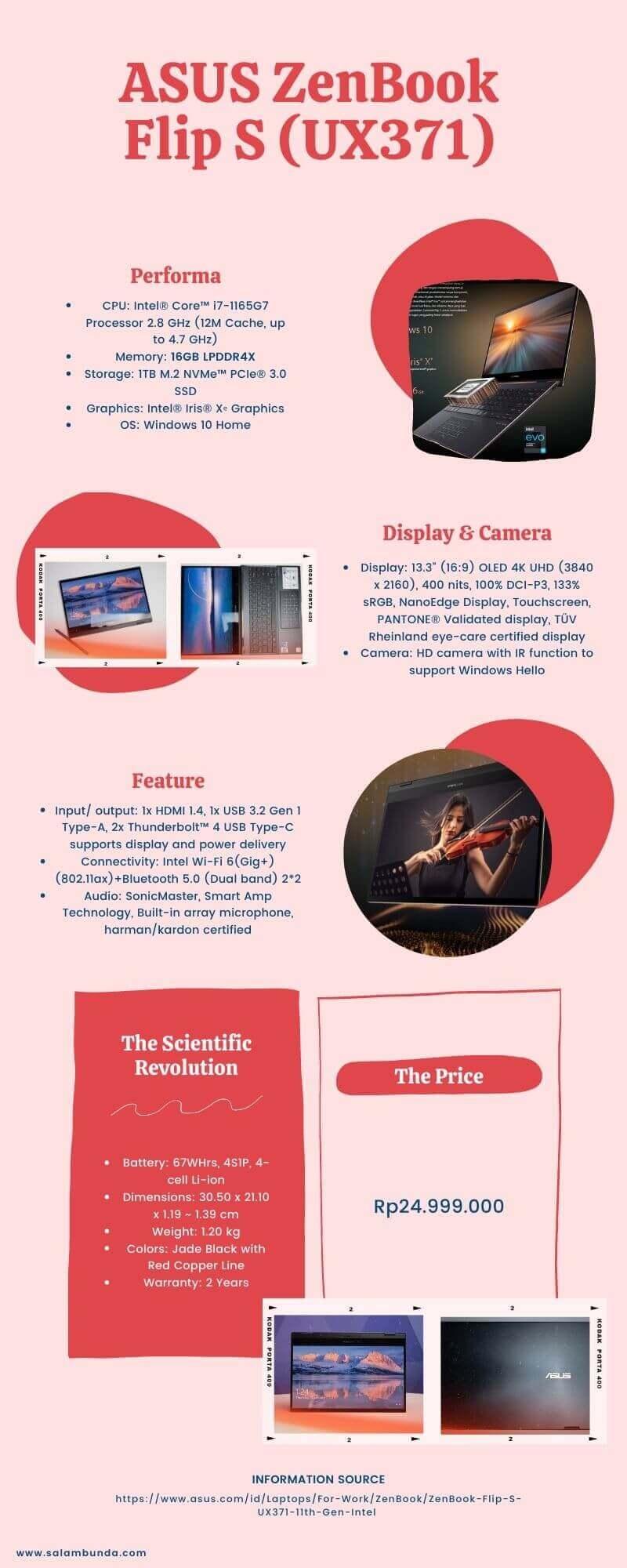 spesifikasi ASUS ZenBook Flip S (UX371)