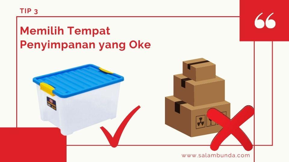 cara memilih container box