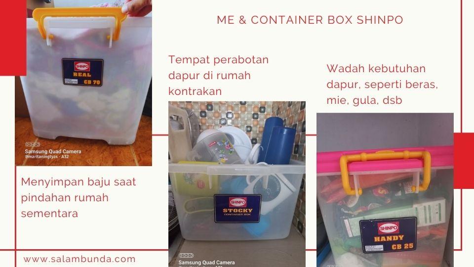 cara saya menggunakan container box shinpo